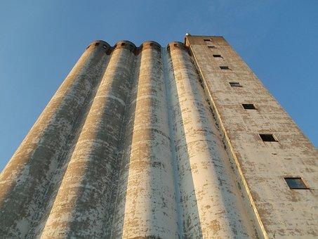 Silo, Storage, Osthafen, Saarbrucken, Industry, Factory