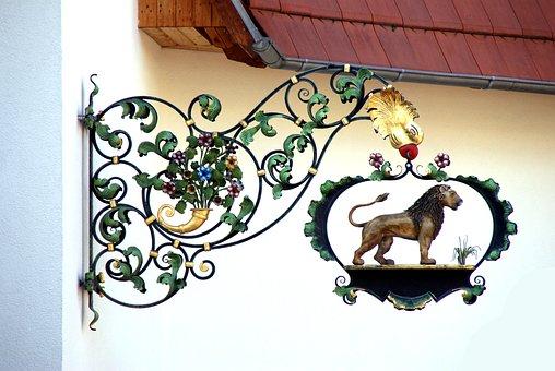 Lion, Shield, Restaurant, Blacksmithing, Sideboard