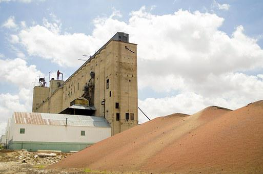 Industry, Silo, Grain, Cotton, Texas, Southwest