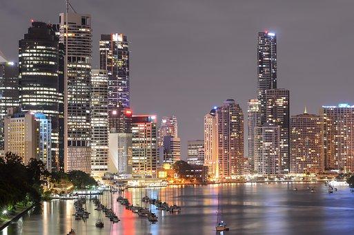 Southbank Brisbane, City Lights, Night Lights