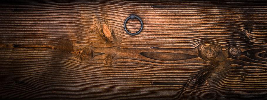 Knocker, Circle, Usd, Wood, Texture, Republic Of Korea