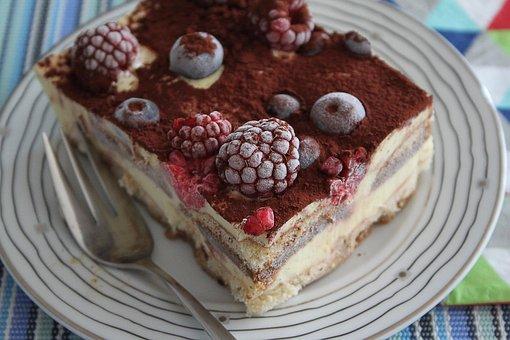 Dessert, Cake, Eating, Chocolate, Cream, Tiramisu