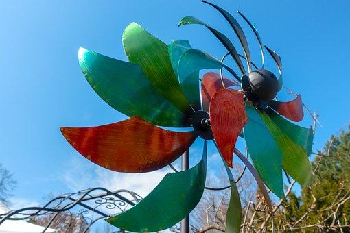 Pinwheel, Colorful, Wind Turbine Is Rotating, Nature