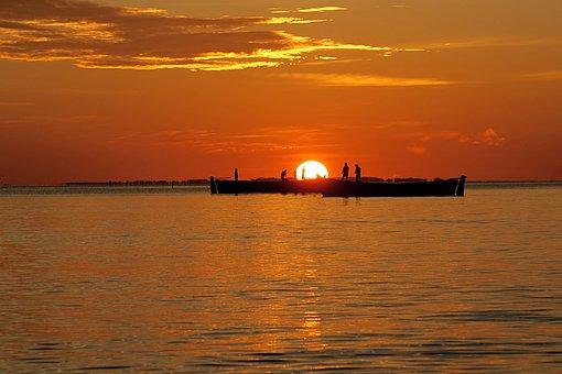 Sunset, Water, Dawn, Dusk, Evening, Sun, Sea