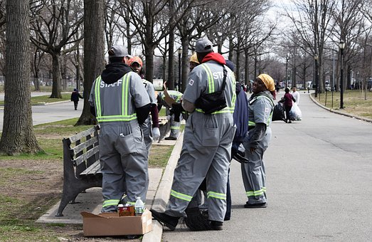 Group Of People, Road, Human, Park, Work, Usa, New York