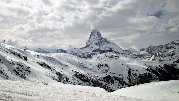 Matterhorn, The Alps, Switzerland, Snow, Mountain, Ice