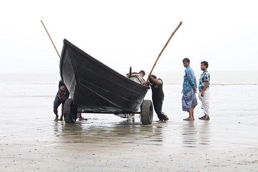 People, Water, Sea, Man, Beach, Boat