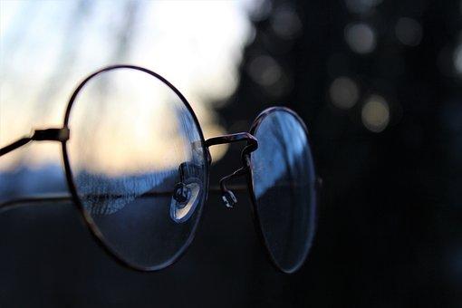 Glasses, Retro, Vintage, Forest, Lenses, Sun, Mirroring