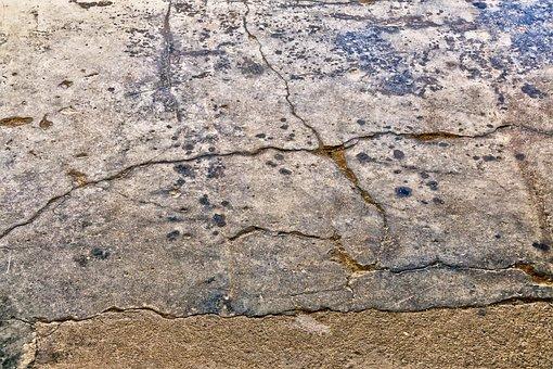 Ground, Floor, Cement Floor, Brittle, Cracks, Old