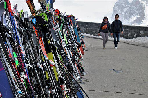 Skis, Para, Zermatt, Sport, Alpine, Travel, Skiing