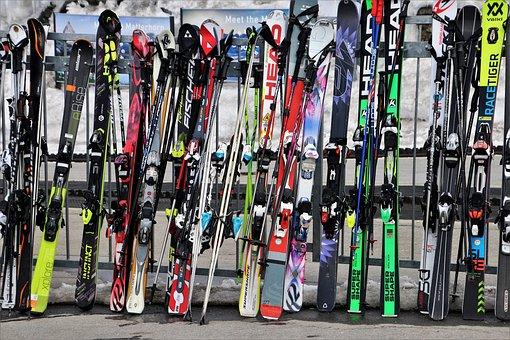 Skis, Ski Resort, Zermatt, The Alps, Switzerland, Ski