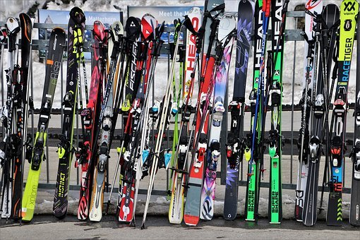 Skis, Ski Resort, Zermatt, The Alps, Switzerland, Ski
