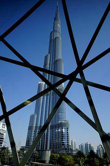 Architecture, Sky, City, Tower, Steel, Dubai, Metro