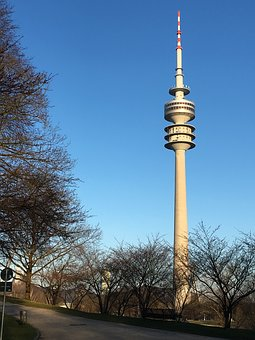 Sky, Architecture, Tower, The Olympic Tower In Munich