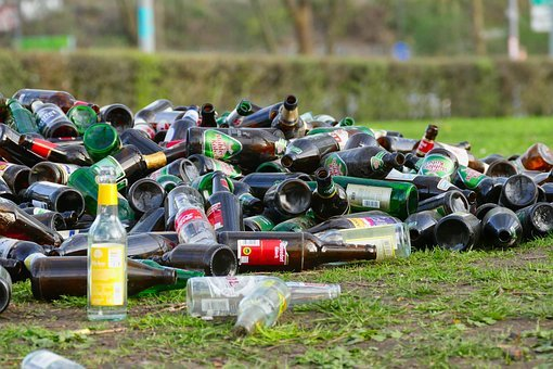 Bottles, Waste, Garbage, Throw Away Society