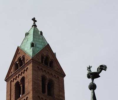 Dom, Speyer, Kaiser Dom, Hahn, Weather Vane