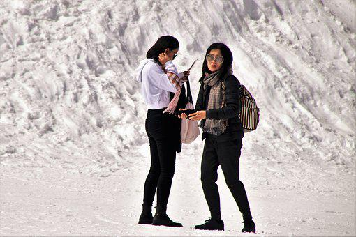 Zermatt, The Alps, People, Snow, Woman, Winter