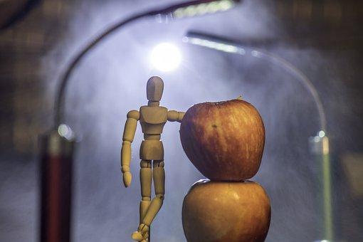 Food, Fruit, Desktop, Apple, Light, Still Life, Wood