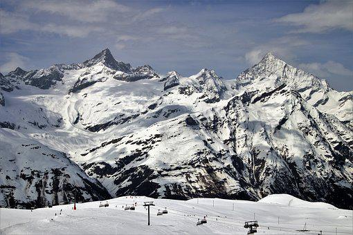 The Alps, Zermatt, Snow, Mountain, Winter, Ice