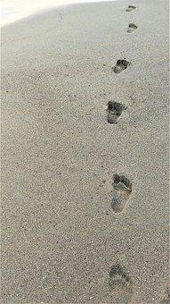 Sand, Beach, Footprint, Costa, Sandy, Summer, Sea