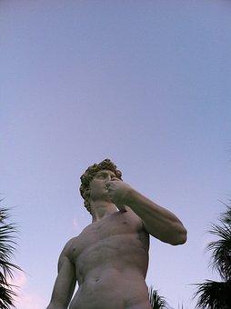 Sky, Outdoors, Travel, People, Man, Sculpture, David