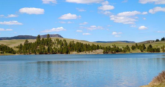 Deerfield Lake, South Dakota, Water, Lake, Nature