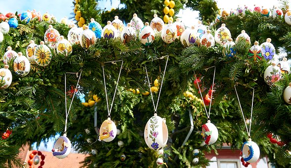 Easter Well, Holy City, Easter Eggs, Custom