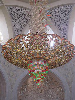 Ornament, Within, Emirates, Abu Dhabi, Chandelier