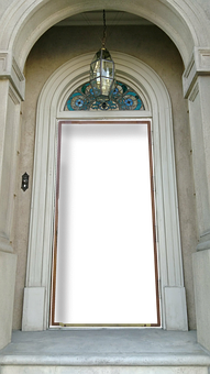 Door, Flame, Frame, White, Front Door, The Entrance