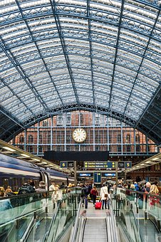 London, Eurostar, Station, Building, King's Cross