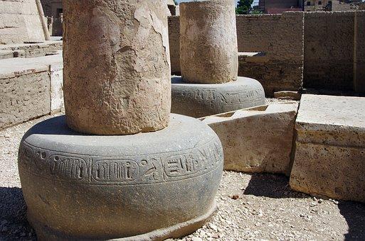 Egypt, Thebes, Necropolis, Medinet-habu, Temple