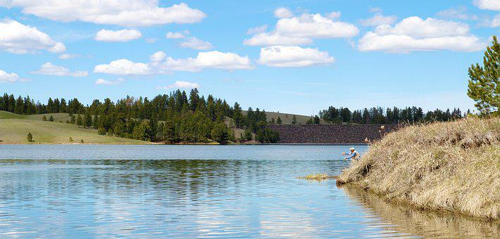 Deerfield Lake, South Dakota, Water, Nature, Lake, Sky