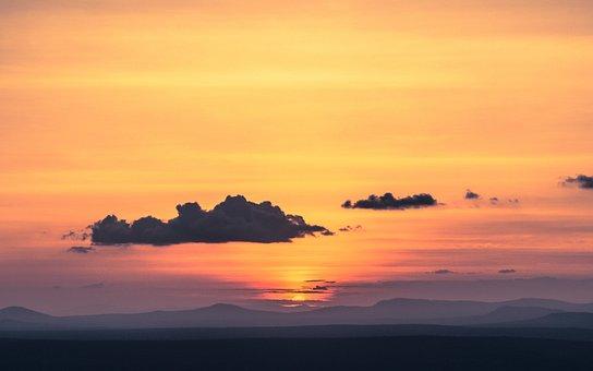 Sunset, Dawn, Sun, Nature, Dusk, Landscape, Light
