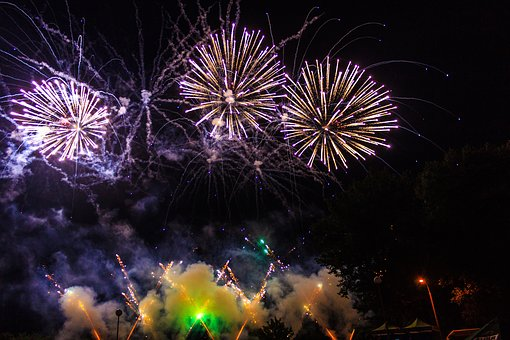 Fireworks, Flame, No One