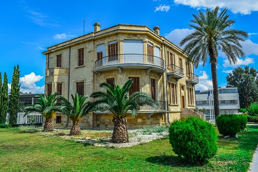 Architecture, Neoclassic, House, Palm, Building