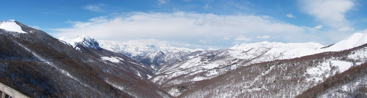 Snow, Nature, Winter, Panoramic, Panoramic Image