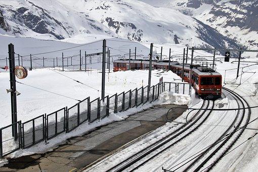 Pull Station, Zermatt, Gornergrat, Snow, Clock