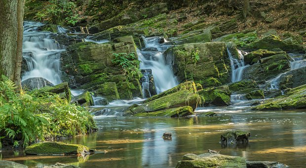 Waters, Nature, Waterfall, River, Resin, Stones, Bach