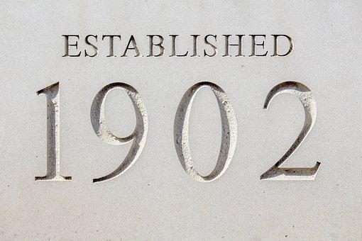Established, Building, Concrete, Sign, Cornerstone