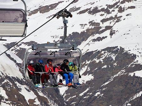 Skiers, Snow, Winter, Cold, Mountain, Sport, Elevator