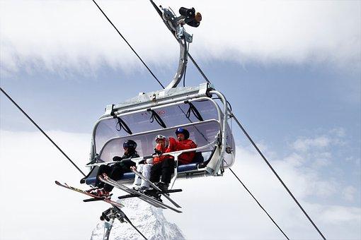 Ski, Zermatt, Skiers, Sky, Sport, Rope, Travel, Biel