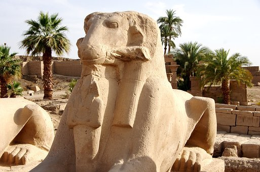 Egypt, Karnak, Temple, Luxor, Rams, Sculpture, Statue