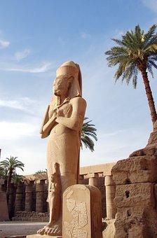 Egypt, Karnak, Temple, Pharaoh, Statue, Stone