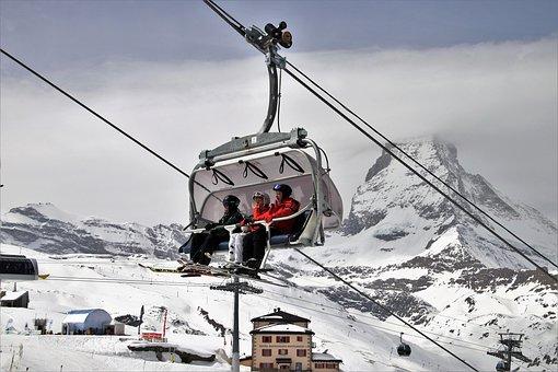 Ski, Matterhorn, The Alps, Snow, Winter, Cold