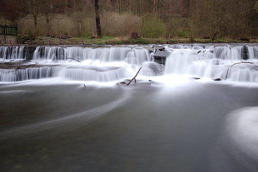 Waters, Winter, Cold, Travel, Waterfall, Landscape
