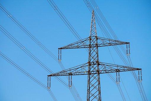 Strommast, Voltage, High Voltage, Power Poles