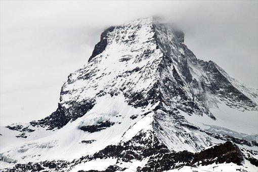The Alps, Matterhorn, Snow, Mountain, Ice, Winter