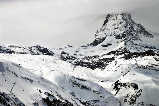 The Alps, Zermatt, Matterhorn, Snow, Mountain, Ice
