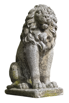 Lion, Stone Figure, Heraldic Animal, Bavaria Lion