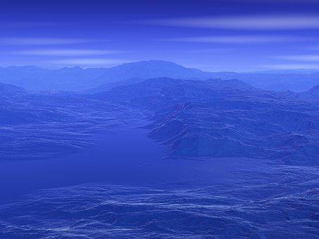 Blue, Helium, Planet, Alien, Atmosphere, Strange